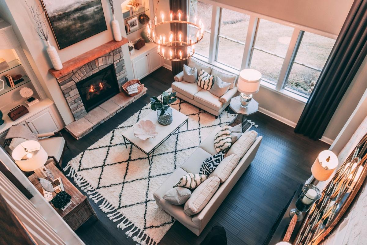 Sala de estar como um dos exemplos de áreas sociais